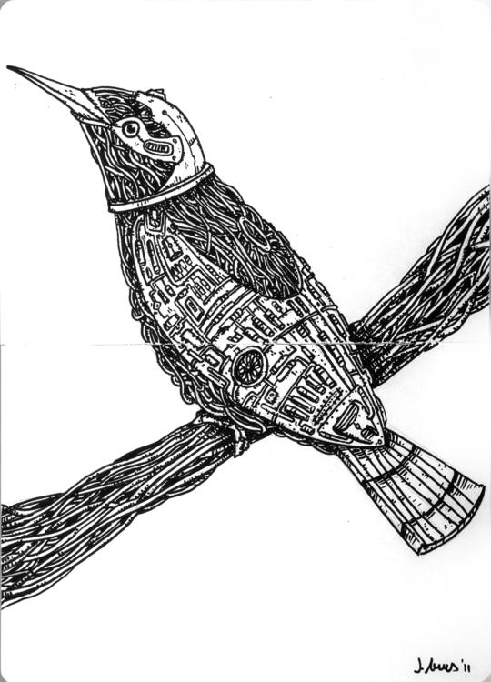 Title: Bird-Bot Size: 11,4inch  - javierarres | ello