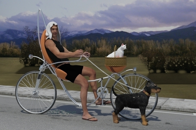 love dog cat - bicycle, pet, sport - lobsteralice | ello