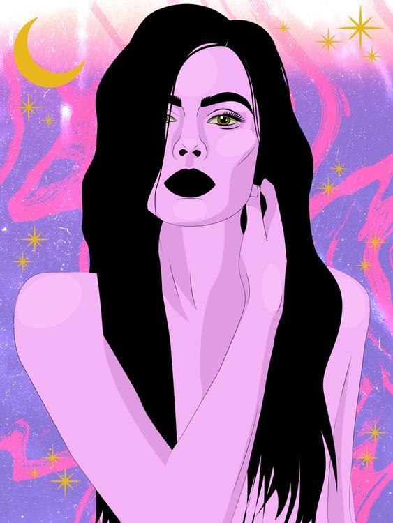 Moon Queen - illustration, illustrator - xeezles | ello