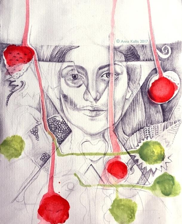 drawing, illustration, analogbackcatalog - ninamateus | ello