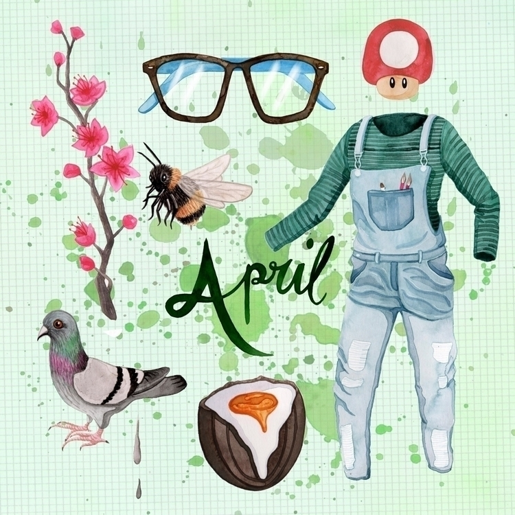 April month lived pair dungaree - zowiegreen | ello