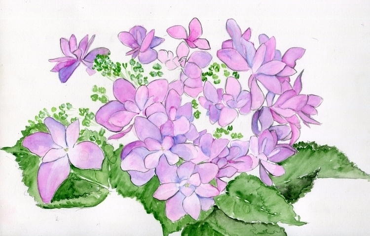 Lavender Lace Watercolor, Gouac - havekat | ello