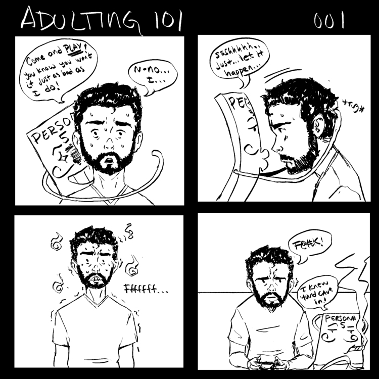 Adulting P2 - comics, webcomic, comicstrip - netocanessa | ello