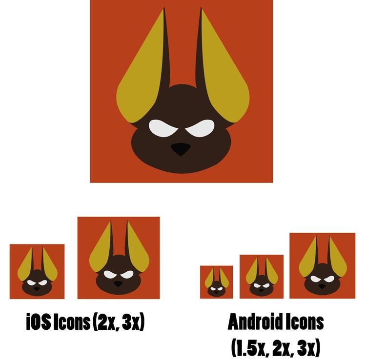 Anubis Icon Design: idea founda - bunnybird-1423 | ello