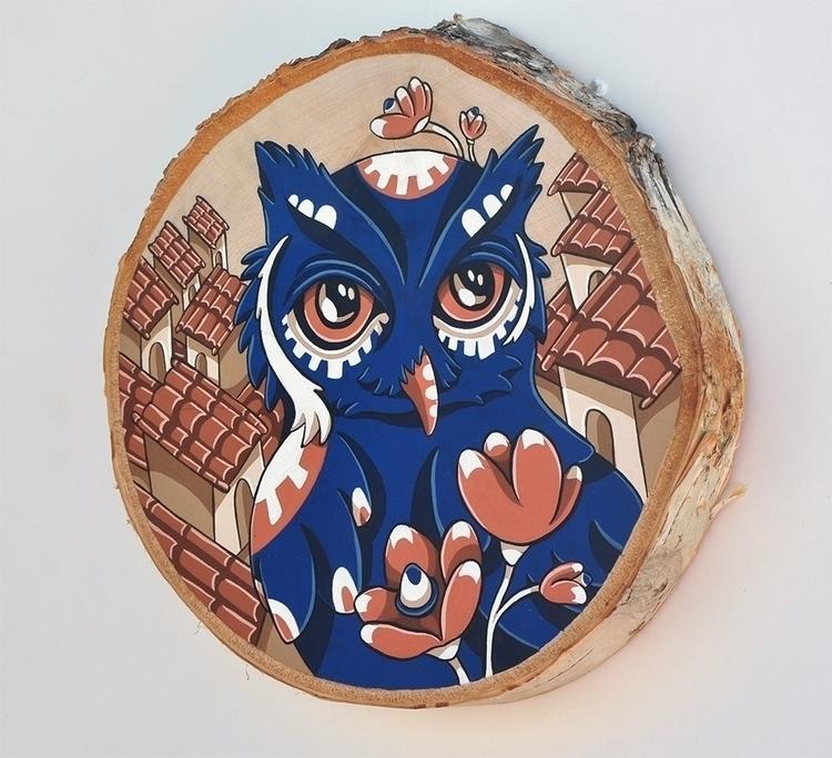 Lookout, gouache wood - illustration - sagecotignola | ello