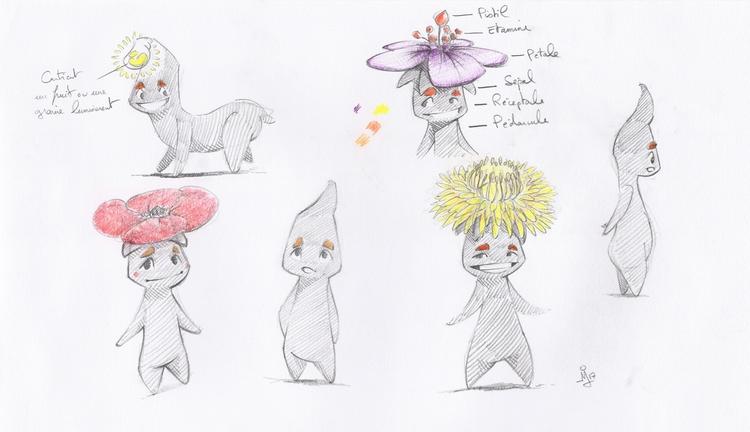 characterdesign, globulbes, sketches - schoyhan | ello