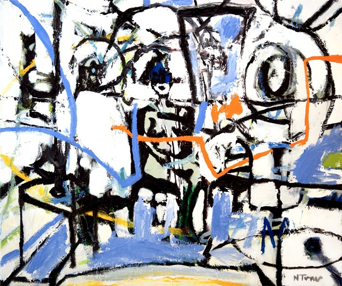 Nina shaking Oil canvas 18 21 1 - nealturner   ello