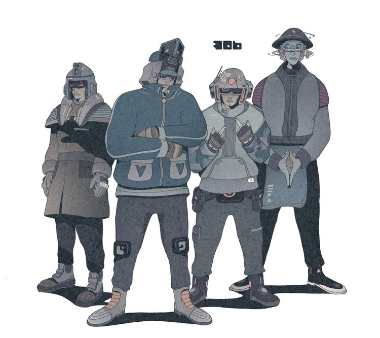 Day 306/365: Full Crew - illustration - 1sles | ello