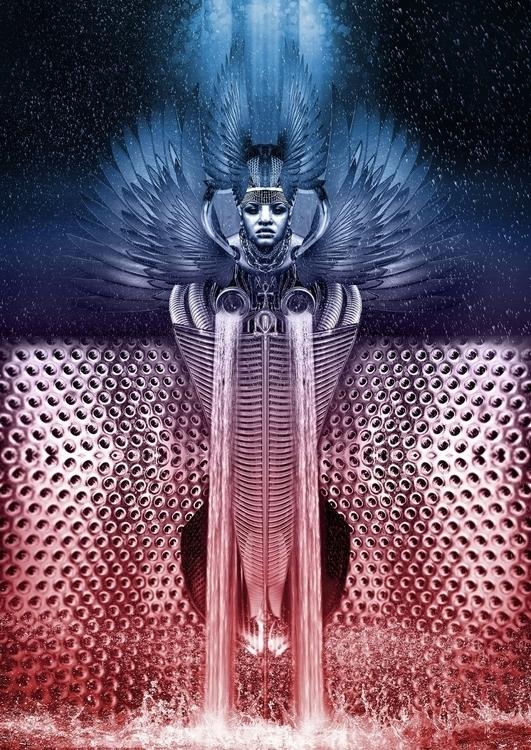 Anuket, Goddess Nile, Heaven He - mikstyx | ello