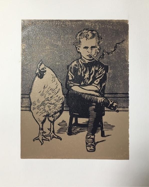 Smoking boy chicken - besties - woodrowlee | ello