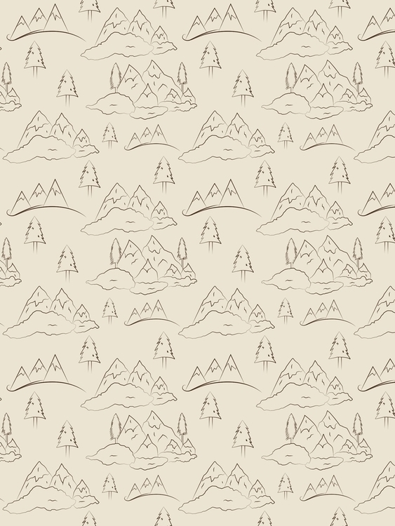 Mountains, clouds pine trees. M - svaeth | ello