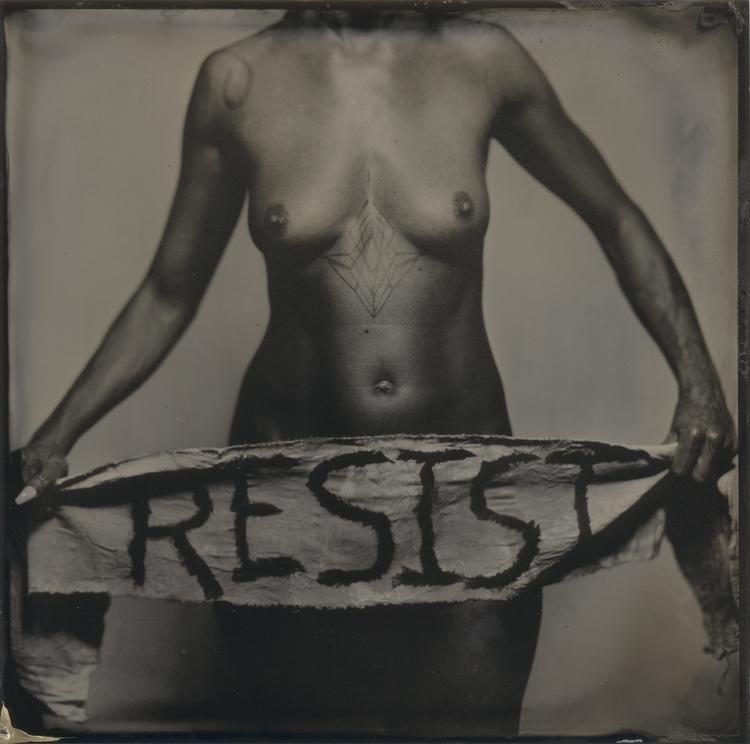 Resist - resist, tintype, wetplate - lacunha | ello