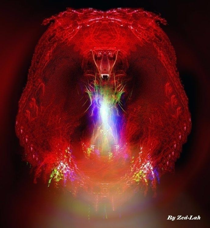 Red Abstract Dragon - Digitalart - toxicfashionist | ello