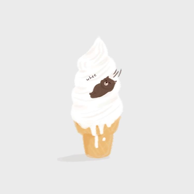 sliding week - icecreamcone, illustration - joseephines | ello