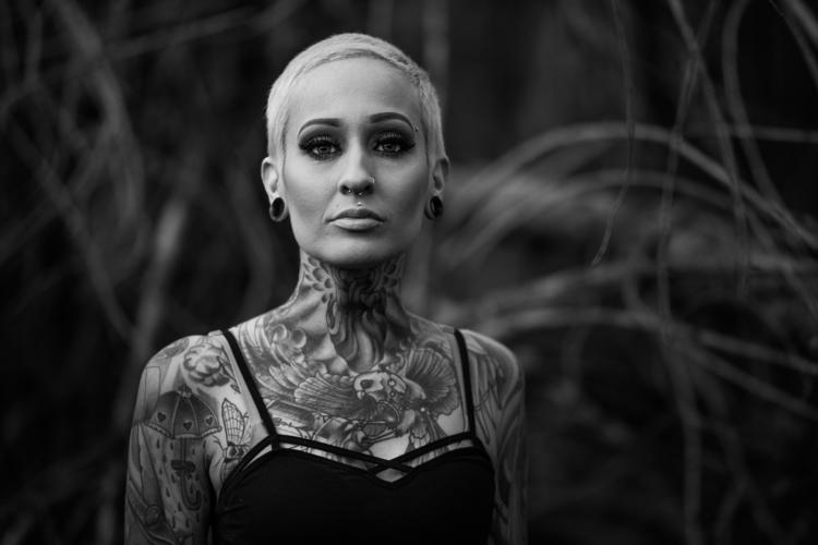 Dana - blackandwhite, portrait, tattoo - ben-staley | ello