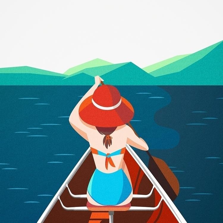 outdoor adventures - illustration - tashaong | ello