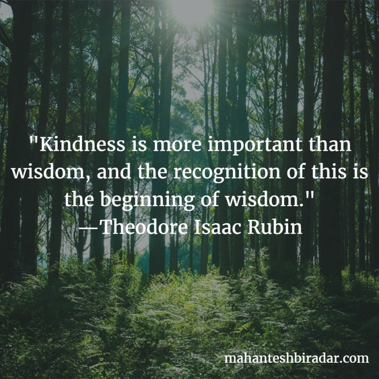 Kindness important wisdom, reco - dailyinspiration | ello