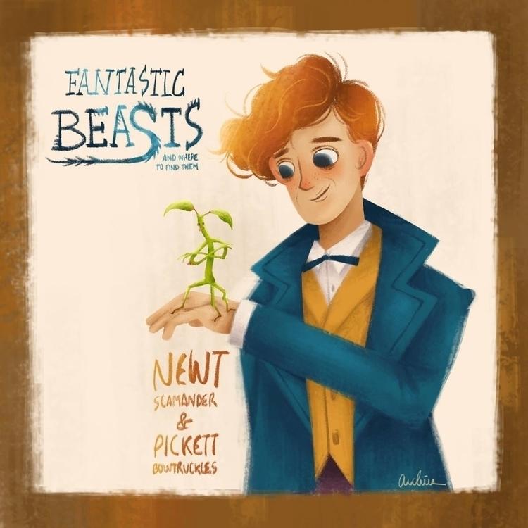 Newt Pickett - FantasticBeastsAndWhereToFindThem - archies | ello