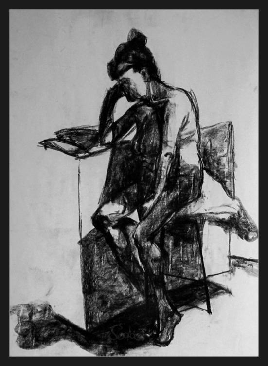 Martine Dreaming Charcoal drawi - artofsedas | ello