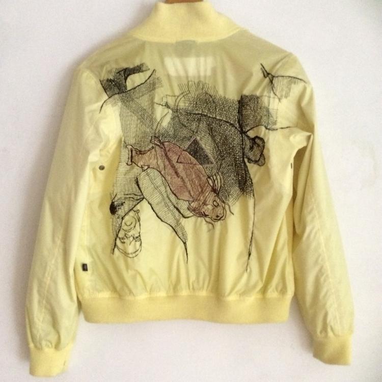 embroidered drawing jacket.icar - soek_madebysoek | ello