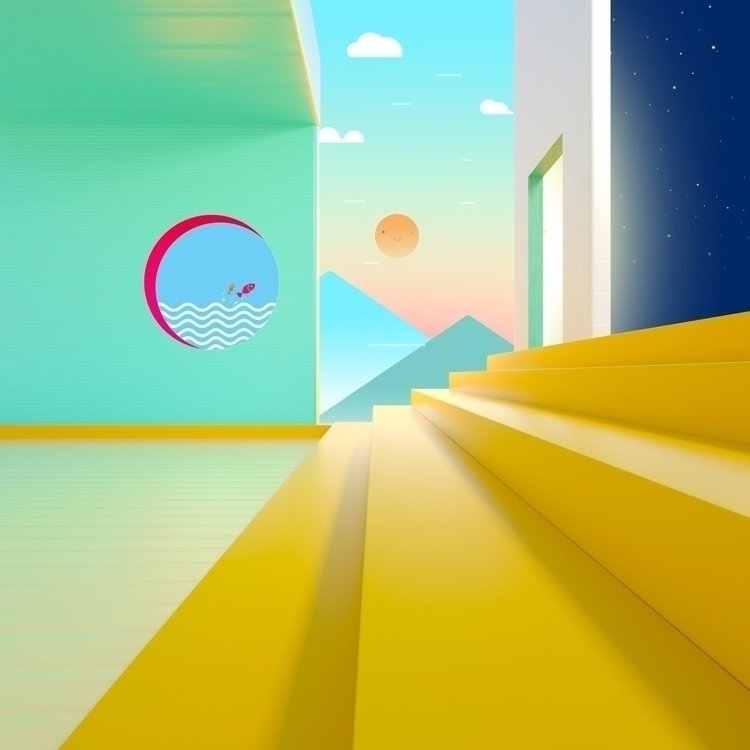 Daydream art - superpixelsg, discovery - onehourgallery   ello