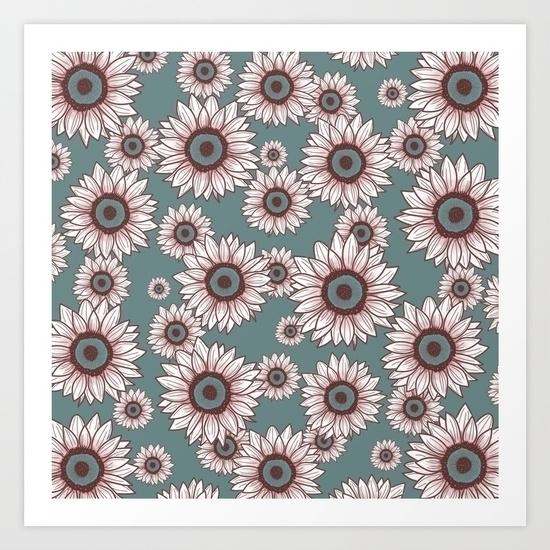 sunflowers, whitesunflowers, flowers - miideegrafiche | ello