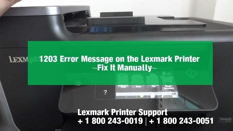 Fix Lexmark Printer Error 1203 - djohnmiller1990 | ello