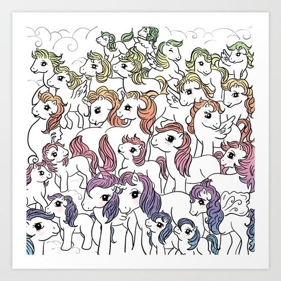 RAINBOW - pony, rainbow, illustrtion - miideegrafiche | ello