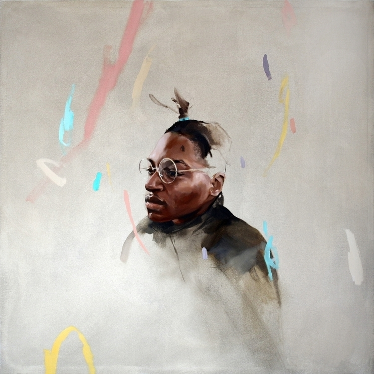 Sheiyh // 105x105cm Oil canvas - rico_white | ello