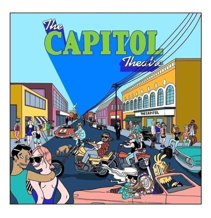 illustration famous Capitol The - sarahmatuszewski | ello