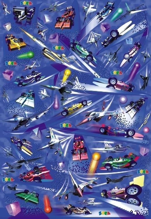 Sega Poster - sega, art, illustration - stevevdh | ello