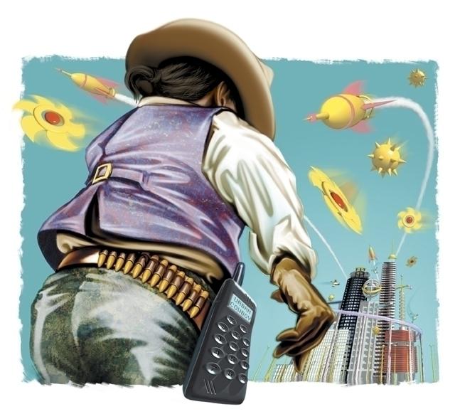 Urban Cowboy - editorial, art, illustration - stevevdh | ello