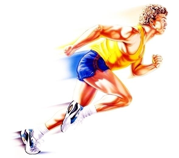 Runner - runner, poster, oilpaint - stevevdh | ello