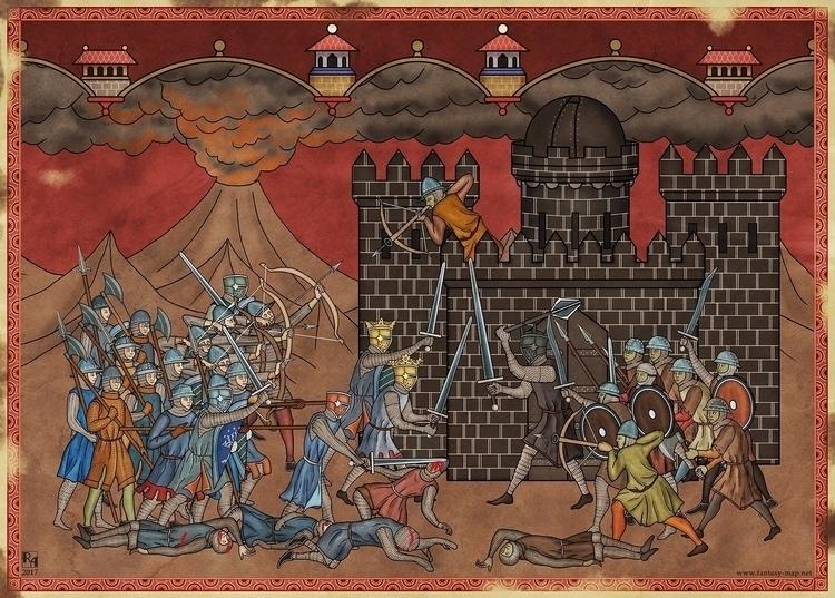 Elendil Isildur fighting Sauron - robertaltbauer   ello