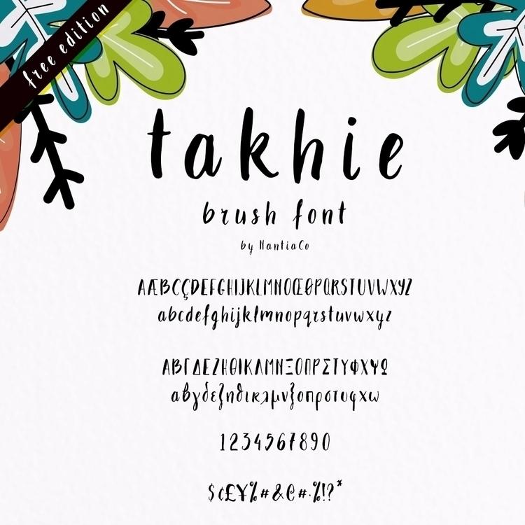 Takhie Font – Free Download mul - nantia | ello
