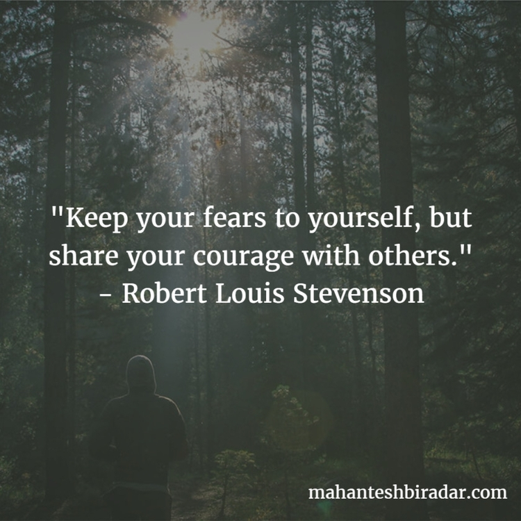 fears share courage - Robert Lo - dailyinspiration | ello