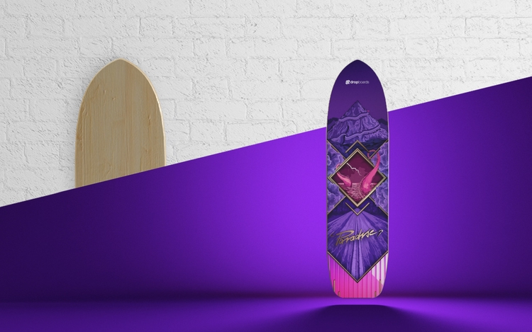 Paradise Longboards - skate, 3D - molistudio   ello
