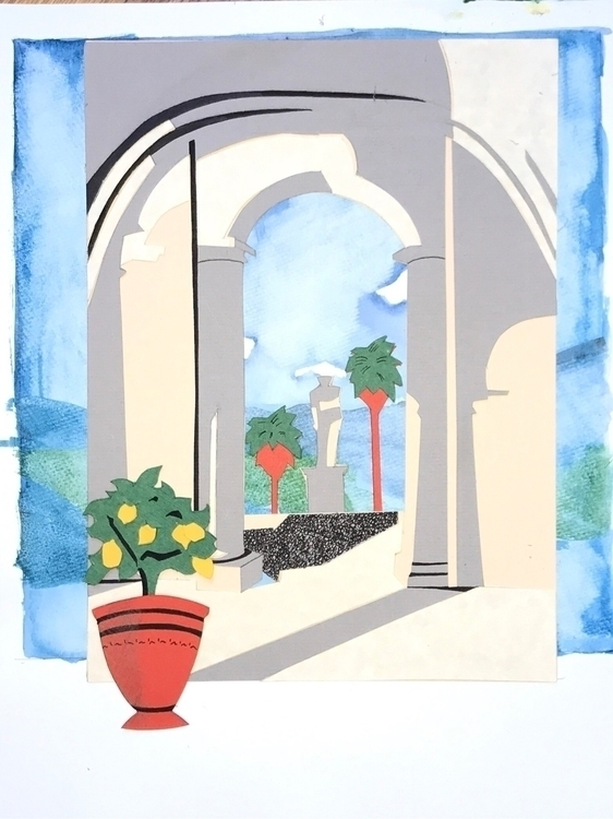 watercolor, papercutout, handmade - whitneysanford | ello
