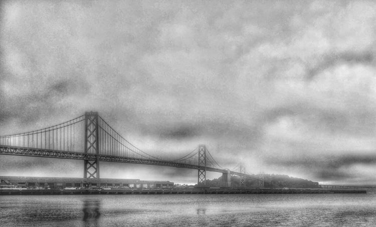 bridge fog - photography, textures - voiceofsf | ello