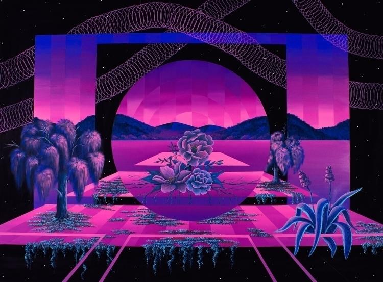 Chameleon Acrylic canvas. 100 7 - irenelopezleon | ello