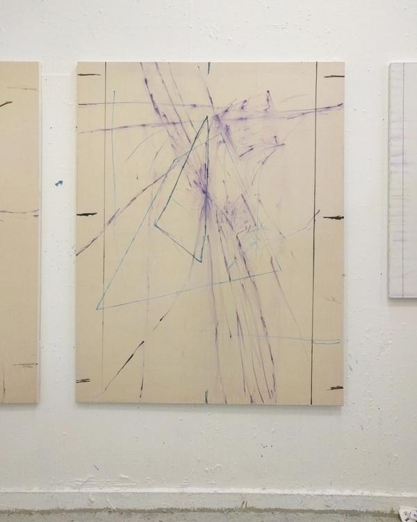 Studio shot - studio#oilpaint#spraypaint#acrylic#crayon#math#art#contemperyart#painting#copenhagen#denmark - mikkelrundin | ello