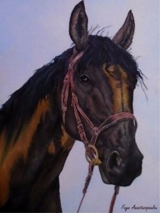 horse, portrait, equine, art - fayeanastasopoulou | ello