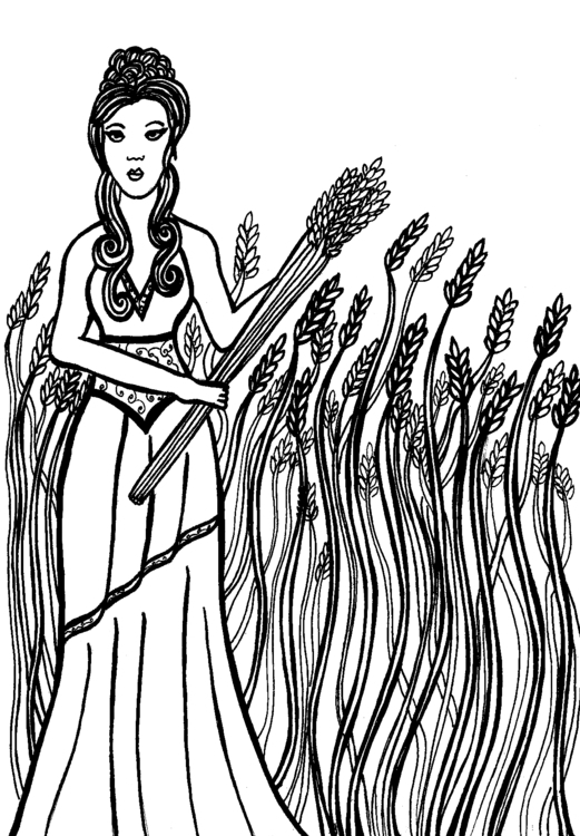 Demeter | Rendered micron pens  - carolinewillustration | ello