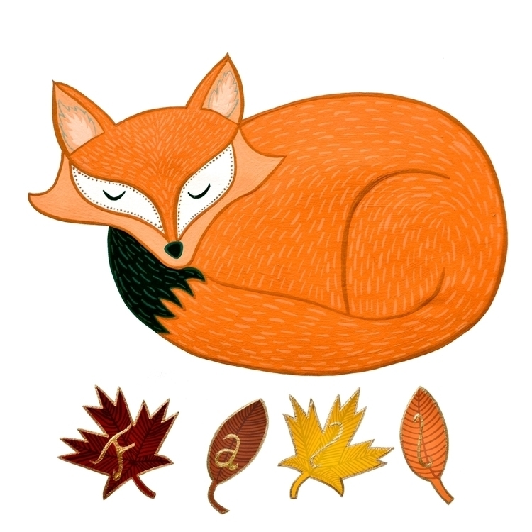 Fall Fox | Rendered gouache ser - carolinewillustration | ello
