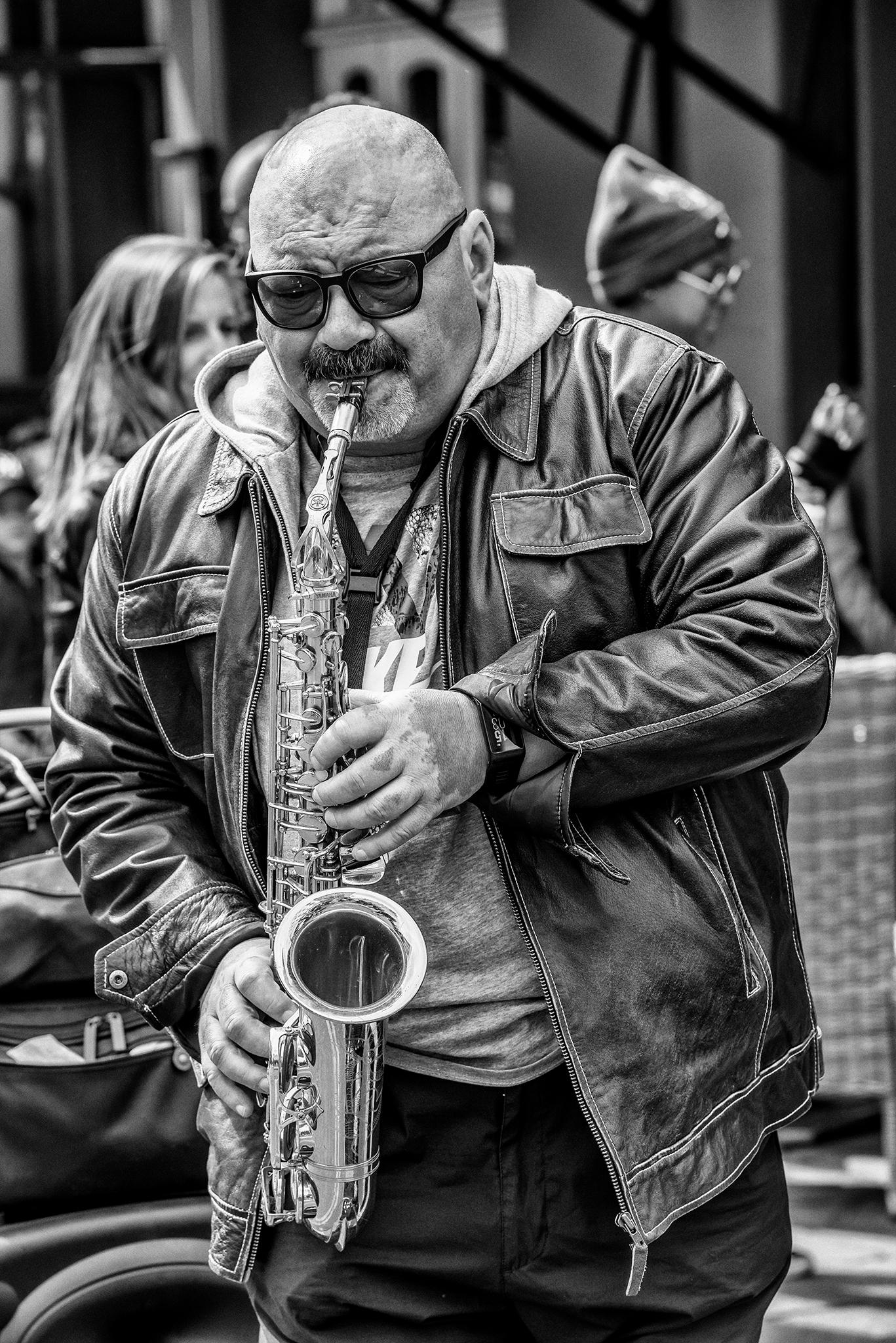 Portobello Sax Player - Nikon, D800E - toshmarshall   ello