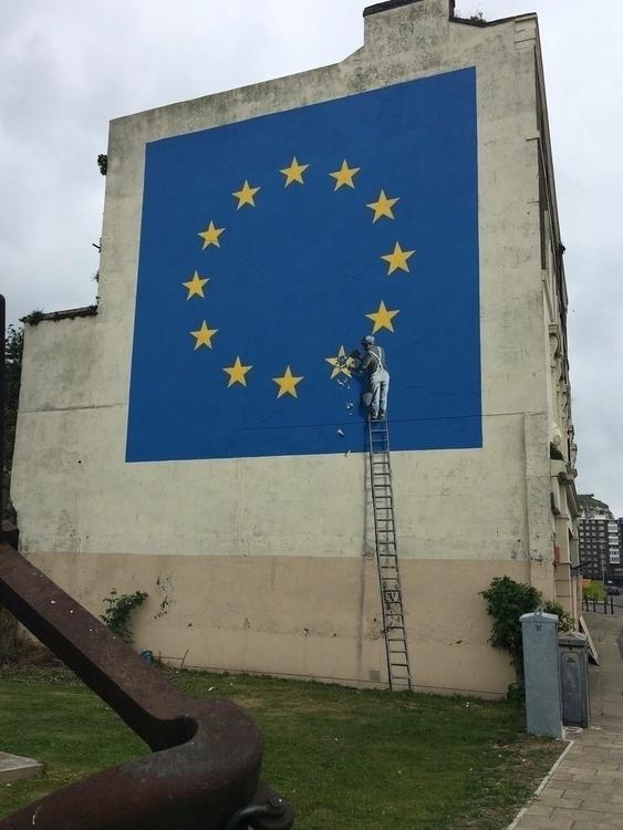 Banksy mural addressing Brexit  - streetartunitedstates | ello