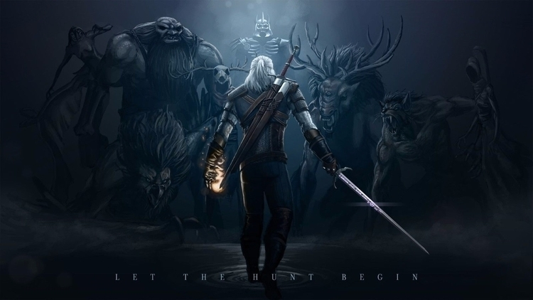 Witcher 3 Wild Hunt - art, poster - sfaart | ello