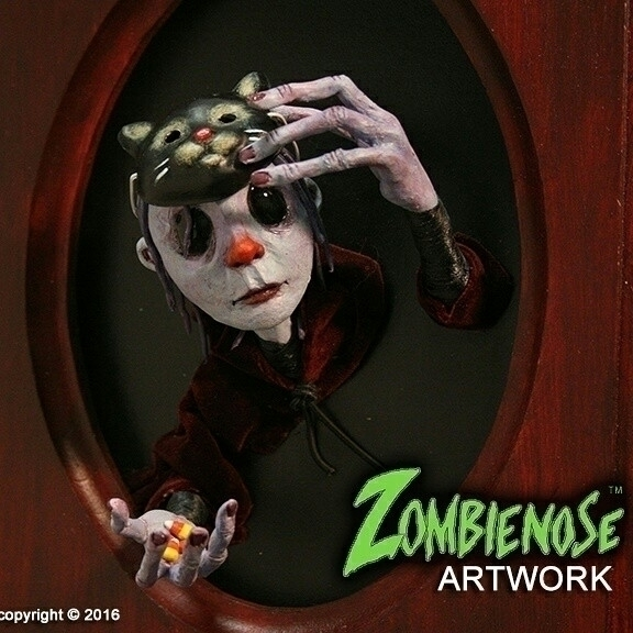 Trixy Zombienose 8x10 Wall Scul - zombienose | ello