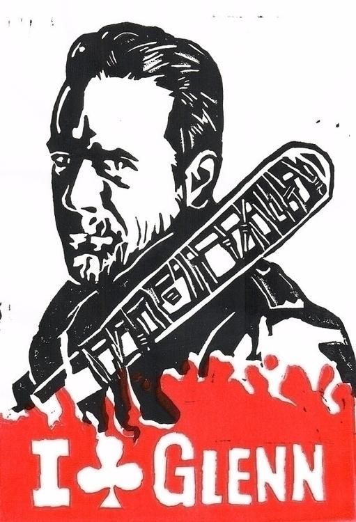 Walking Dead Negan Glenn Linocu - paulfrancisj | ello