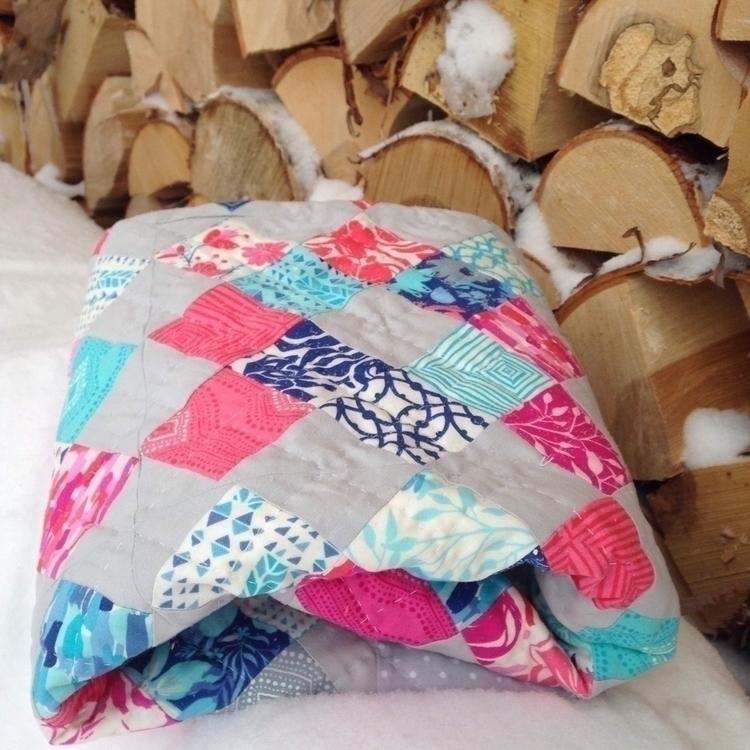sweet hand quilted baby quilt d - firesidequiltstudio | ello